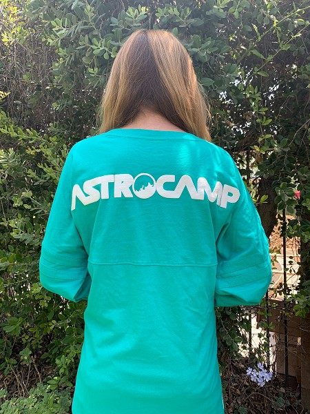 AstroCamp Cheer Letters with Solid Teal Front